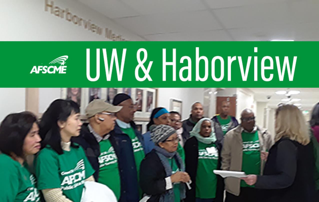 UW and Haborview members speak truth to power