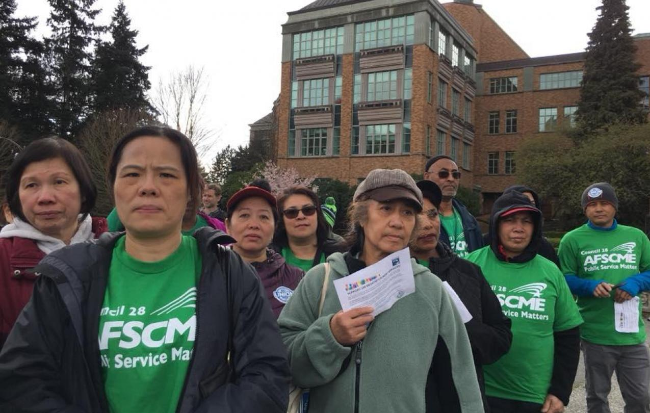 Support UW Laundry workers