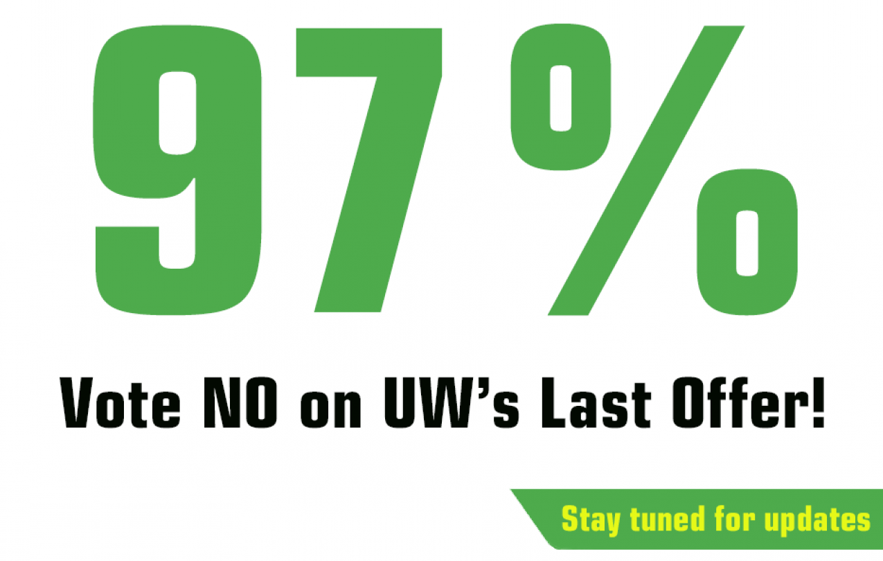 UW members vote no