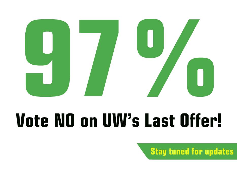 UW members vote no