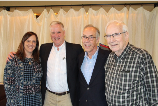 Four WFSE Executive Directors: Newly selected ED Leanne Kunze, Greg Devereux, Gary Moore, and George Masten.